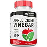 Extra Strength Apple Cider Vinegar Capsules (1300mg) - Potent Detoxifier, Weight Loss, and Metabolism Booster* - Potent 1300mg dose of Pure Apple Cider Vinegar - Manufactured in USA - 60 Capsules