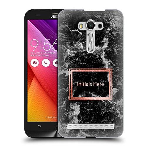Black Marble Custom Laser (Custom Customized Personalized Marble Prints Black Hard Back Case for Zenfone 2 Laser ZE550KL)
