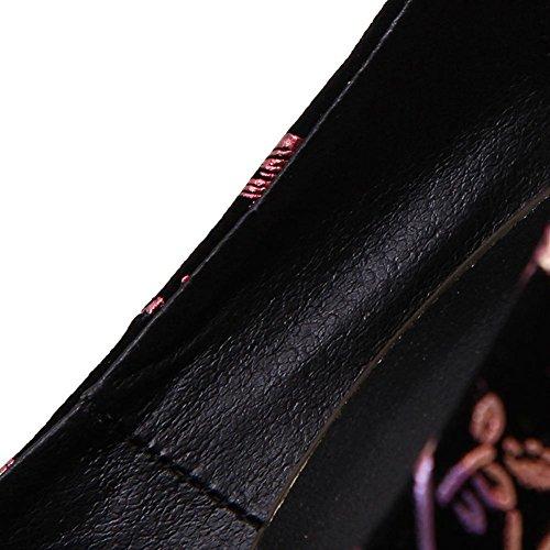 Fiore Talloni Nero Tavolo Alti Da Sera 16 Donne Belle Centimetri Delle Discoteca Impermeabile L Yc Danza Scarpe 6qwB544