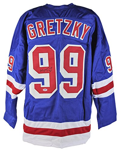 Rangers Wayne Gretzky Authentic Signed Blue Jersey PSA/DNA ()