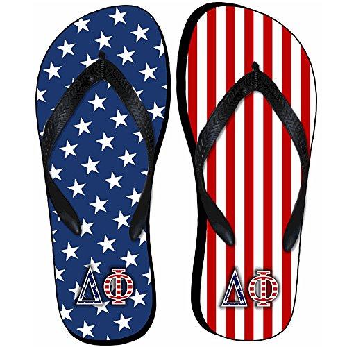 Uttrycka Designgrupp Delta Phi Amerikan Flagga Flip Flops