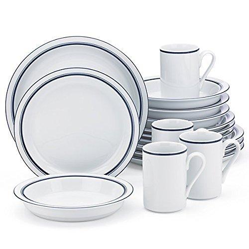 Dansk Bistro Christianshavn Blue 16 Piece Dinnerware Set (Dinnerware Set Bistro)