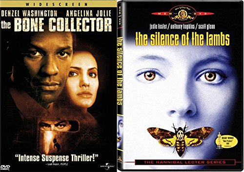 Serial Killer Thriller 2-Movie Bundle - The Bone Collector & Silence of the Lambs Double Feature DVD - List Serial Color