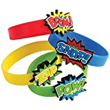 U.S. Toy Superhero Rubber Bracelets (12 Pack)