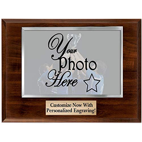 Crown Awards Photo Frame Plaque - 10x8 Customized Photo Plaque Award with Your Own Engraving, Great Coach Gift, Team Gift Prime