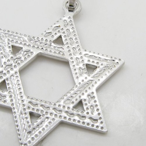 Star of david silver pendant SB57 44mm tall and 26mm wide