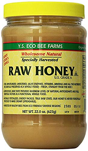 YS Eco Bee Farms RAW HONEY - Raw, Unfiltered, Unpasteurized - Value 2 Pack yVskwCc( 22 Ounce each)
