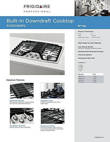 ★★★★★ TOP 10 BEST 30 INCH GAS COOK WITH DOWNDRAFT REVIEWS 2018 - Magazine cover