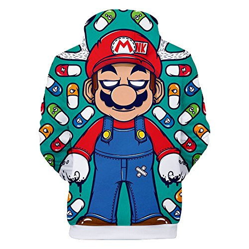 Ctooo 09 Unisex Mario Femme 3xl À Sweats Mode 3d Capuche Xxs Homme 2018 7x1rO7fqwZ