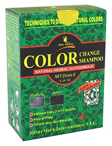 Deity Shampoo Color Change Kit Natural Herbal 2-N-1 Black (3 Pack)