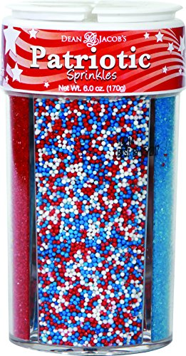 Dean Jacob's 4in1 Patriotic Sugar Sprinkles ~ 3.0 oz.