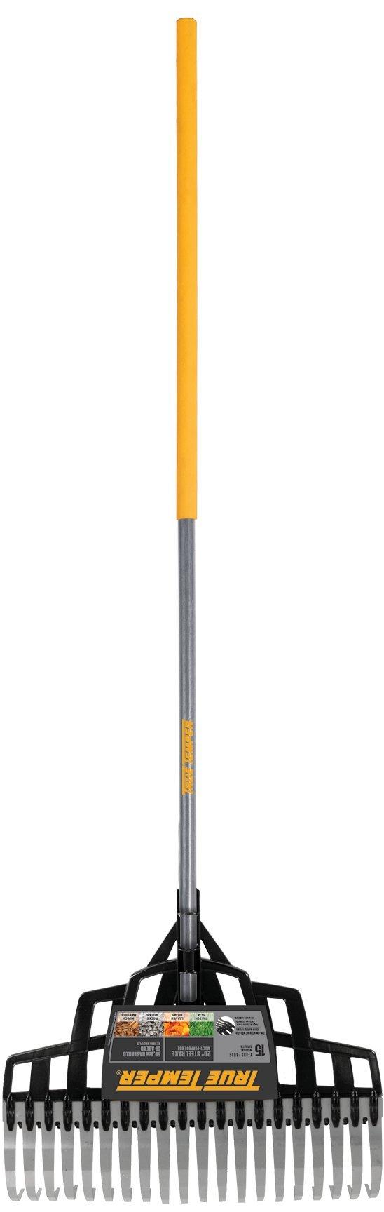 True Temper 20-Inch Multi-Purpose Steel Lawn Rake - 2000TT