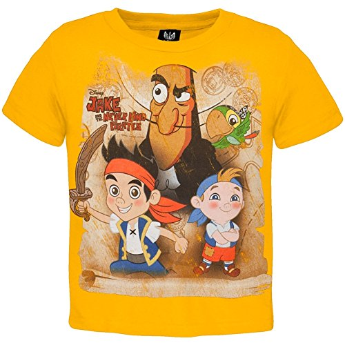 - Old Glory Jake And The Neverland Pirates - Baby-boys Hook Drama Toddler T-shirt 2t Gold