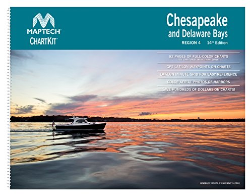 Maptech Chartkit Region 4 Chesapeake and Delaware Bays 14th Edition
