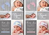 Premium Personalised New Baby Photo Thank You Cards Boy Girl Birth Announcement (30)