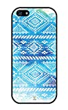 iZERCASE iPhone SE, iPhone 5S Case Simple Blue Aztec Tribal Pattern RUBBER CASE - Fits iPhone SE, iPhone 5S T-Mobile, Verizon, AT and T, Sprint and International