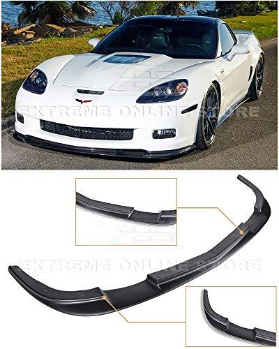 Extreme Online Store EOS ZR1 Style ABS Plastic Primer Black Front Bumper Lower Lip Splitter for 2005-2013 Chevrolet Corvette C6 Z06 | Grand Sport