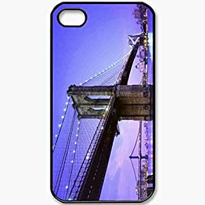 Protective Case Back Cover For iPhone 4 4S Case New York USA Black