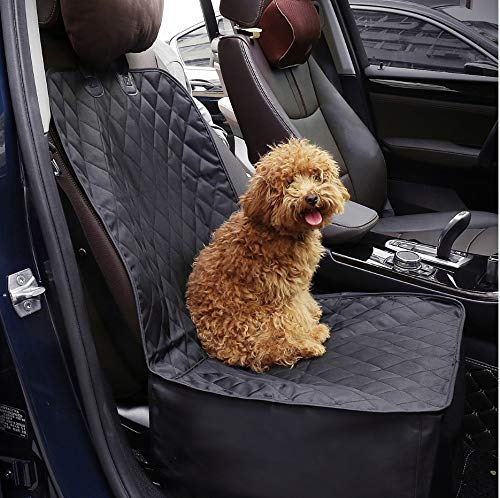 Docamor Dog Front Seat Cover for Cars Water Resistant Nonslip Backing with Anchor Car Seat Protector for Pets & Dogs
