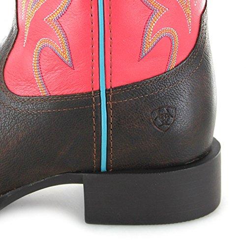 Fb Mode Laarzen Ariat 23159 Ronden Ryder Chocolade Magenta Western Riding Boots Bruin Rood Voor Vrouwen Chocolet Magenta