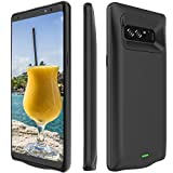 Galaxy Note 8 Battery Case, Stoon 5500mAh Portable Charger Case Rechargeable Extended Battery Pack Protective Backup Charging Case Cover for Samsung Galaxy Note 8(6.3Inch) (Black)