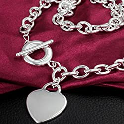 Pixel Jewelry 1985 - Fashion 925 Sterling Silver Chain Girl Beautiful Necklace With Pendant Women Type 16