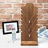 Mooca Wooden Freestanding Necklace Easel Display