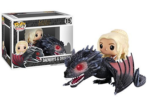 Game of Thrones Daenerys & Drogon: Funko POP! Rides x Vinyl Figure + 1 FREE Official Trading Card Bundle [72353]