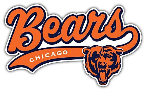 - qualityprint Chicago Bears Logo NFL Sport Decor Bumper Vinyl Sticker 14'' X 8''