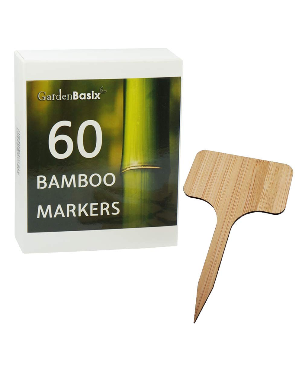 60 Bamboo Garden Plant Labels Herbs Gardening Markers Plant Sign Tags 60pcs 2.4 inch wide 4 inch tall by GardenBasix