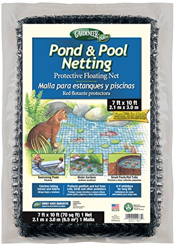 By Pond & Pool Netting Protective Floating Net 7' x 10' (Pond Cover Net)