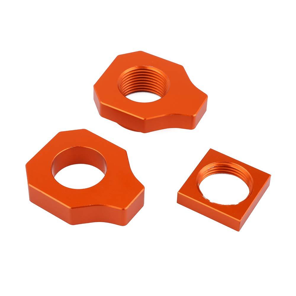 JFG RACING Rear Axle Block CNC Billet Chain Adjuster For KTM SX85 15-19 / FREERIDE250F 18-19 / FREERIDE 250R 14-19 / FREERIDE 350 12-19 / HUSQVARNA TC85 15-19 - Orange by JFG RACING (Image #3)