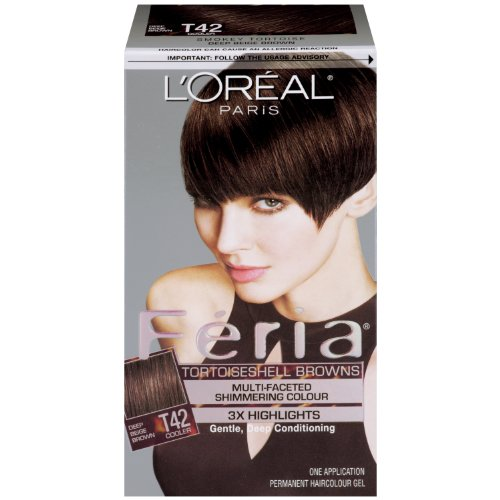 Hair Color, T42 Deep Beige Brown/Smoky Tortoise (Loreal Feria Colour)