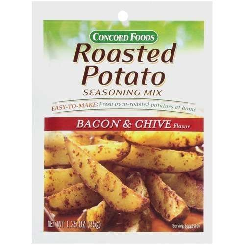 Concord Foods Roasted Potato Bacon & Chive Seasoning Mix 1.25oz Package (VALUE Case of 18 Packages) by Concord Foods ()
