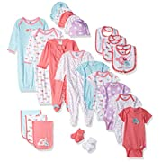 Gerber Baby-Girls Newborn Zebra 26 Piece Gift Bundle Gift Set, Zebra, 0-6 Months (Assorted)