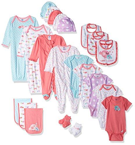 Gerber Baby Girls' 26 Piece Essentials Gift Set, Birdie, 0-3 Months by Gerber