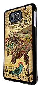 540 - Vintage Shabby Chic Victorian Piano Floral Roses Design For Samsung Galaxy Alpha Fashion Trend CASE Back COVER Plastic&Thin Metal