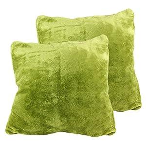Amago Cashmere de Feeling Lot de 2Housse de coussin, Microfibres, limone, 50 x 50 cm