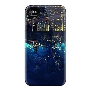 Mwaerke Iphone 4/4s Hybrid pc Case Cover Silicon Bumper Hemisphere At Night