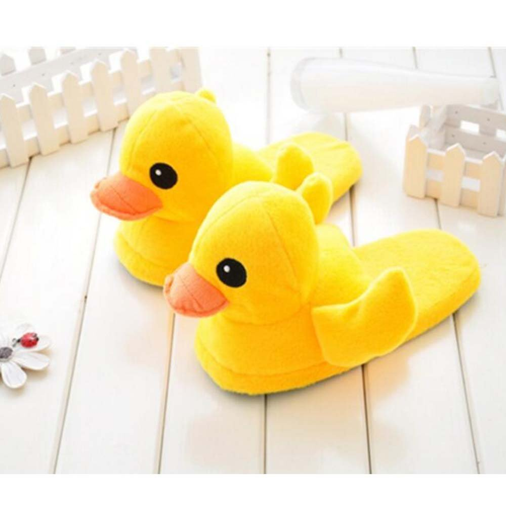 Eastlion Damen Winter Home Innenbereich Warm Halten Draussen Lovely Gelbe Ente Pl/üsch Hausschuhe Schuhe