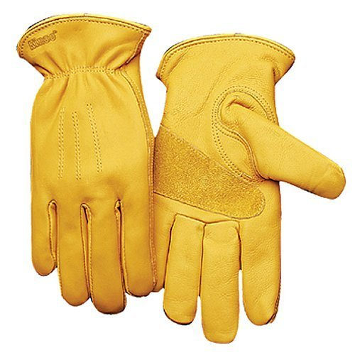 (Kinco 198HK Heatkeep Thermal Lined Grain Cowhide Leather Driver Glove, Work, X-Large, Golden (Pack of 6 Pairs))