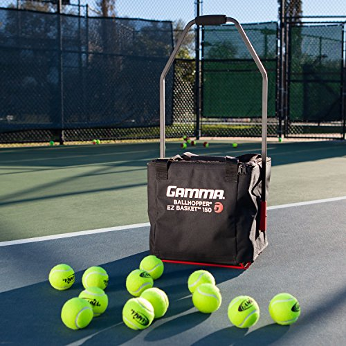 Gamma Sports Premium Tennis Teaching and Travel Baskets Unique Sports Equipment, EZ Travel Ball Carriers, Portable Designs, Ideal Training Court Accessories