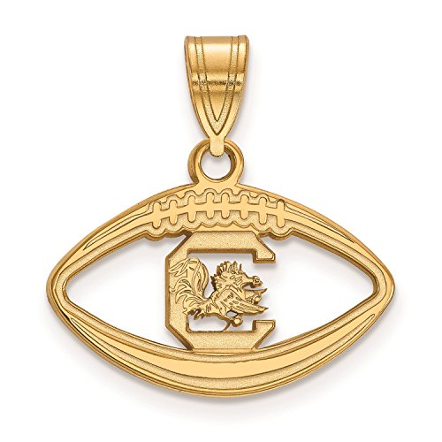 University of South Carolina Pendant in Football (Gold Plated)
