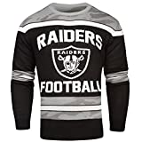 FOCO Oakland Raiders Ugly Glow In The Dark Sweater - Mens - Mens Medium