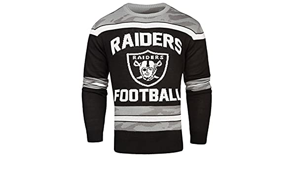 Amazoncom Foco Oakland Raiders Ugly Glow In The Dark Sweater
