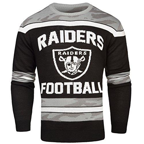 FOCO Oakland Raiders Ugly Glow In The Dark Sweater - Mens - Mens Medium by FOCO