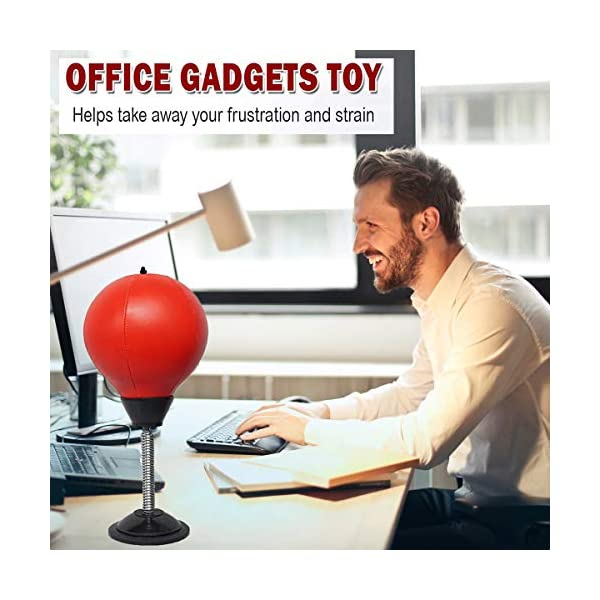 Office Tension Stress Toy Desktop Punching Bag Stress Buster Relief with Stand