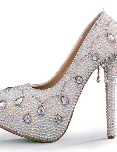 ZQ de noche las zapatos zapatos de tal¨®n 5 blanco amp; los us8 cn38 eu38 tac¨®n tac¨®n de partido uk5 5 la us7 5 5 over over vestido amp; de uk6 5in eu39 uk6 5 5 mujeres de eu39 amp; boda us8 5in over de 5in amp; aguja cn40 del zRzqxrwt