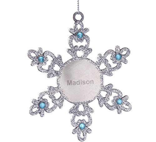 - Fox Valley Traders Personalized Birthstone Snowflake Pewter Ornament - March