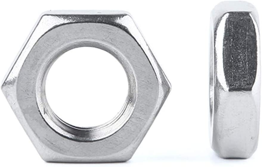 DINGGUANGHE-CUP Hex Nuts 10//50pcs M2.5 M3 M4 M5 M6 M8 M10 M12 M14 M16 Gasket A2-70 Thin Nut Jam Nut DIN439 GB6172 Stainless Steel Flat Hex Hexagon Machine Screw Nuts Inner Diameter : M16 5pcs